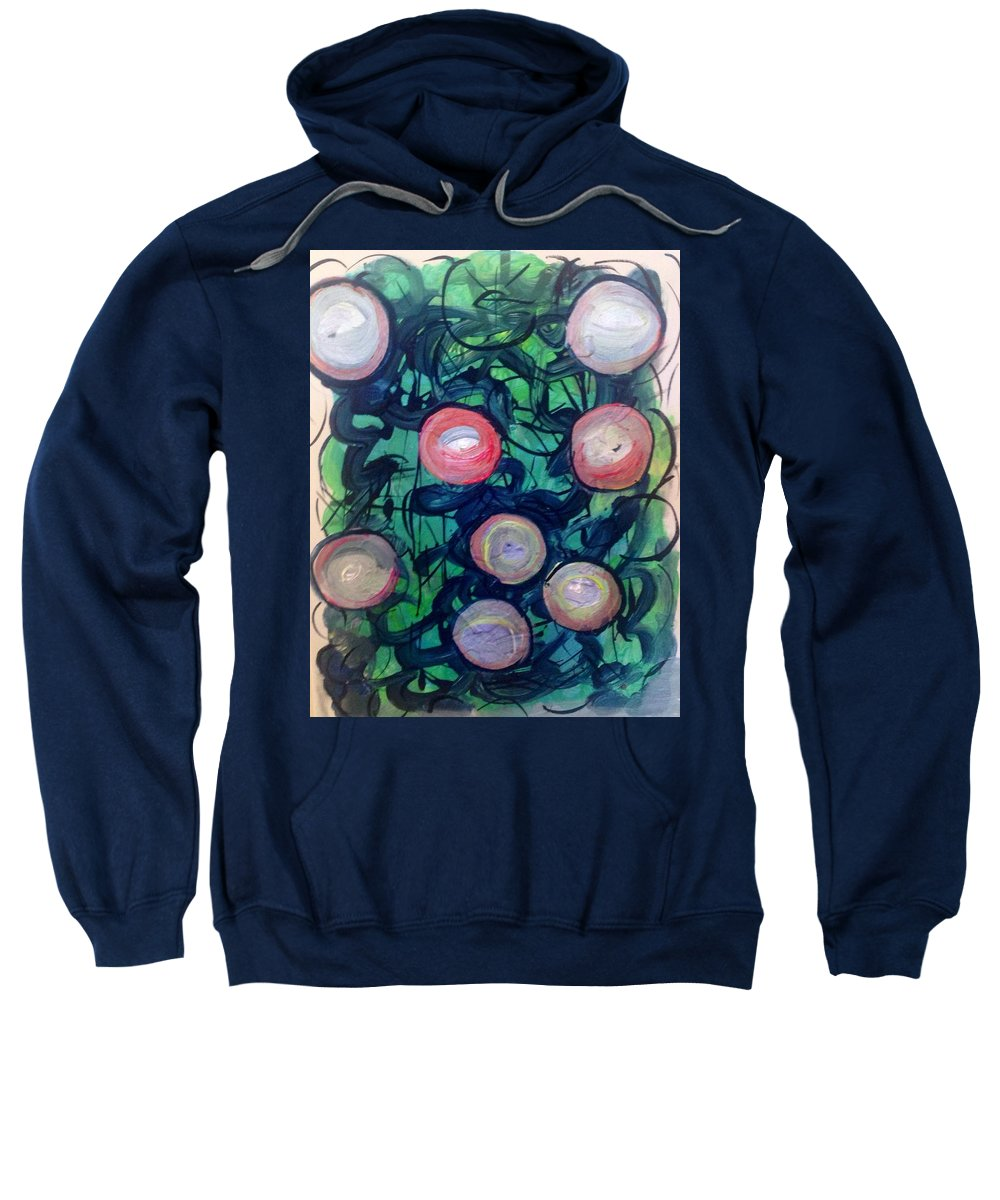 Apple Cart Sweatshirt featuring the painting Picking Up The Apple Cart by Judith Desrosiers
