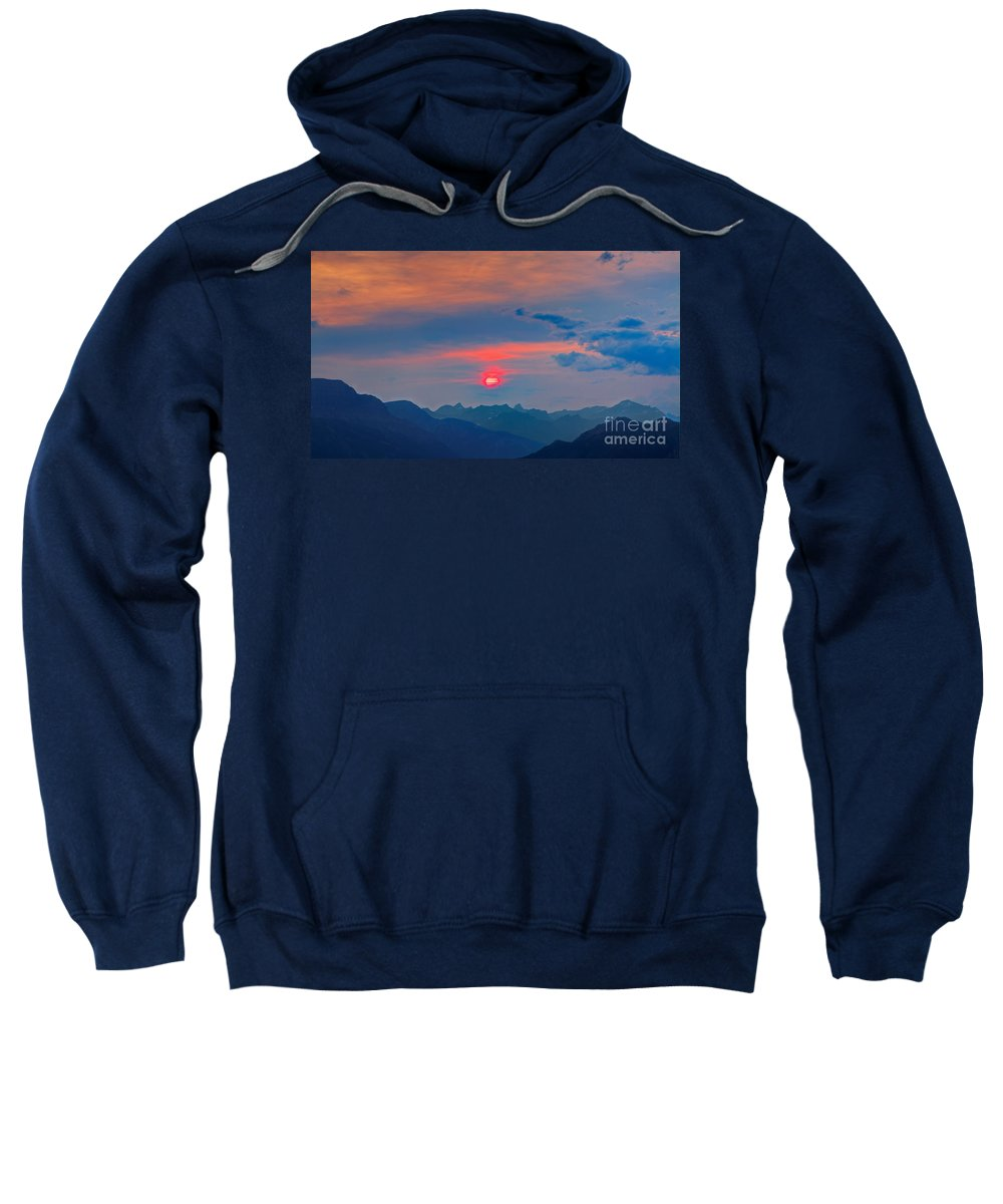 Sun Sweatshirt featuring the photograph Pink Sun by James Anderson