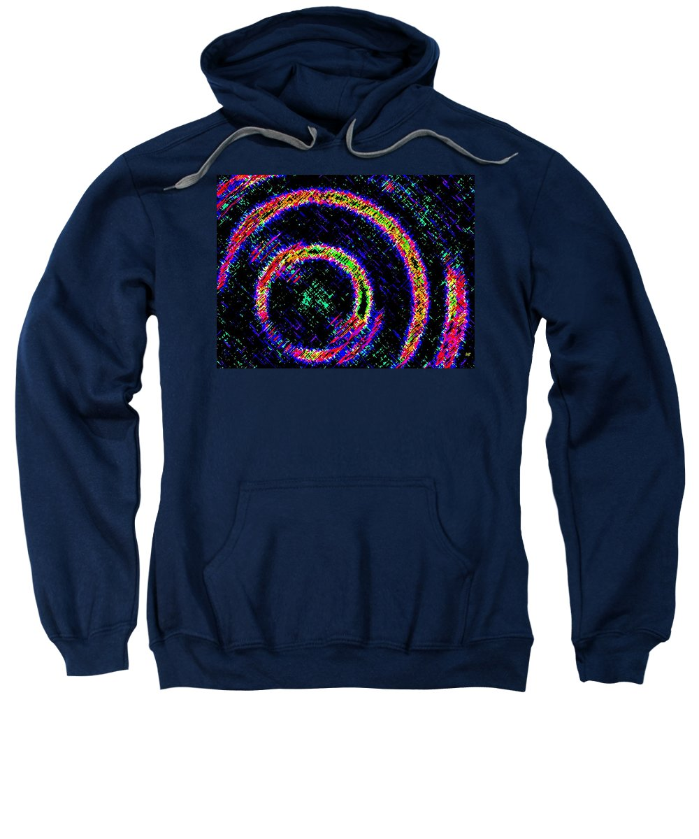 Abstract Sweatshirt featuring the digital art Pizzazz 2 by Will Borden