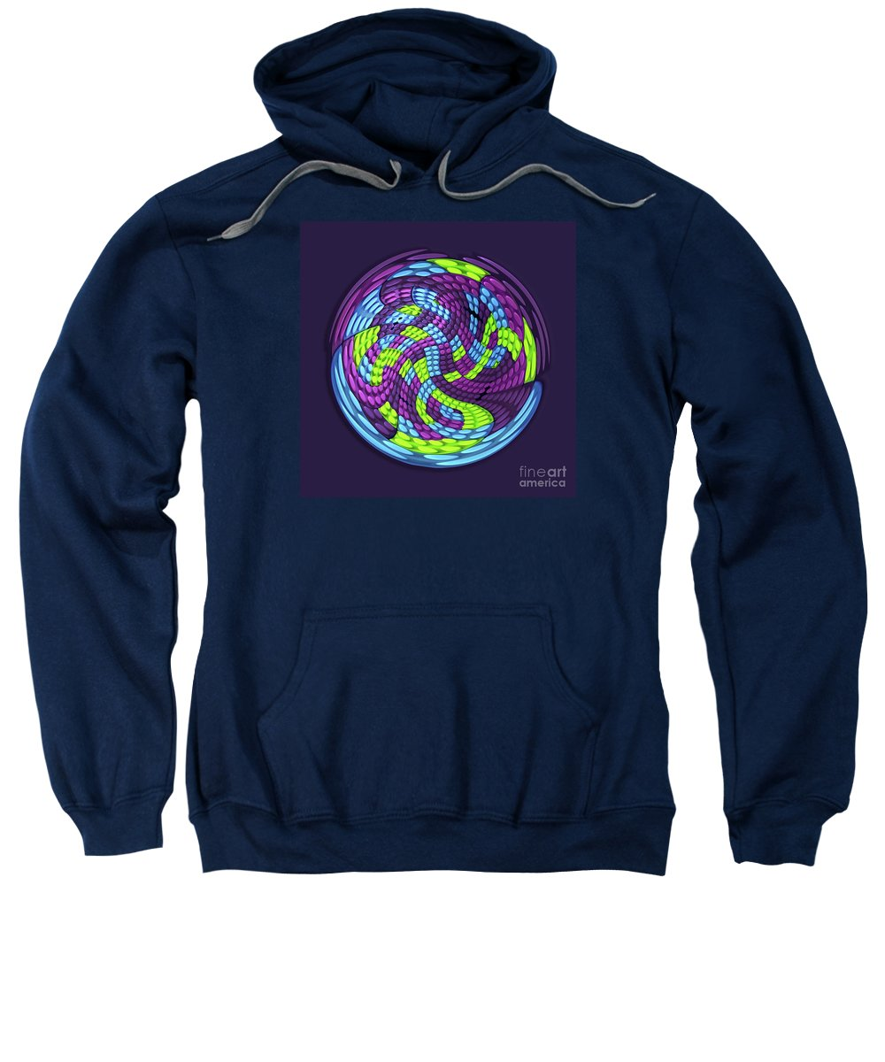 Abstract Sweatshirt featuring the digital art Planet by Efrat Fass