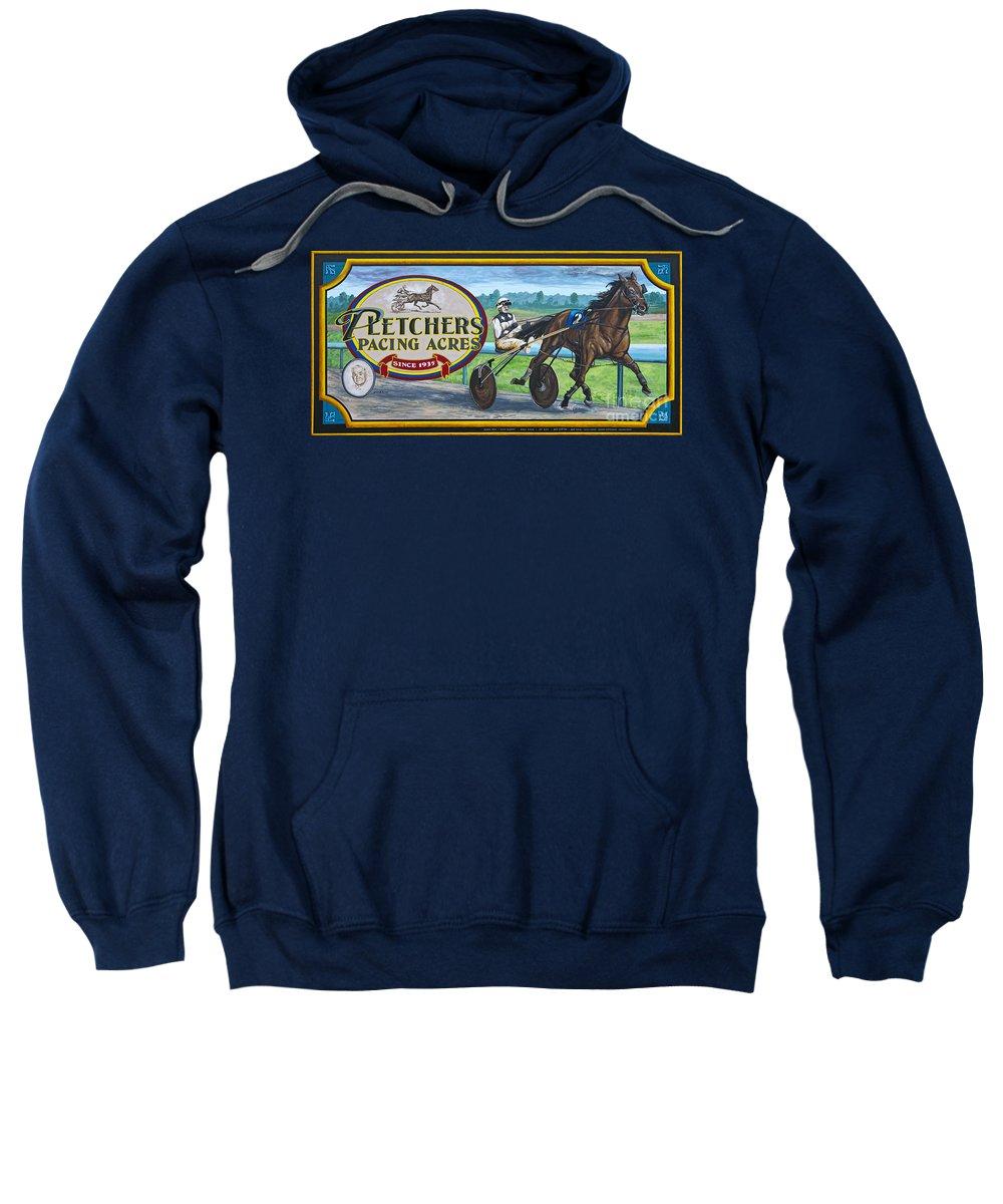 Walldogs Sweatshirt featuring the photograph Pletchers Racing Mural Shipshewana by David Arment