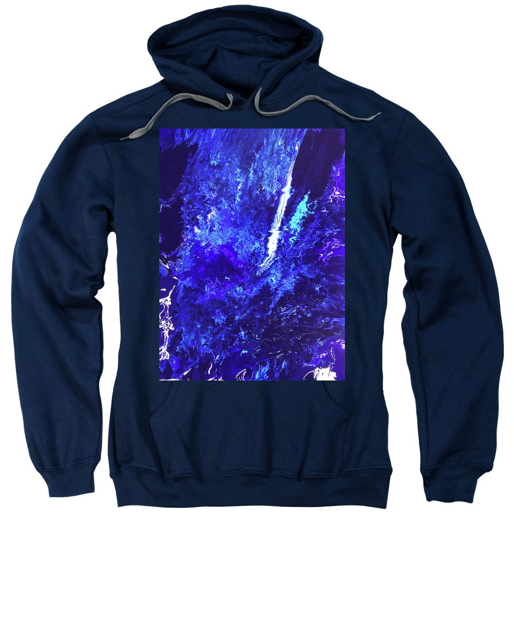 Fusionart Sweatshirt featuring the painting Plunge by Ralph White