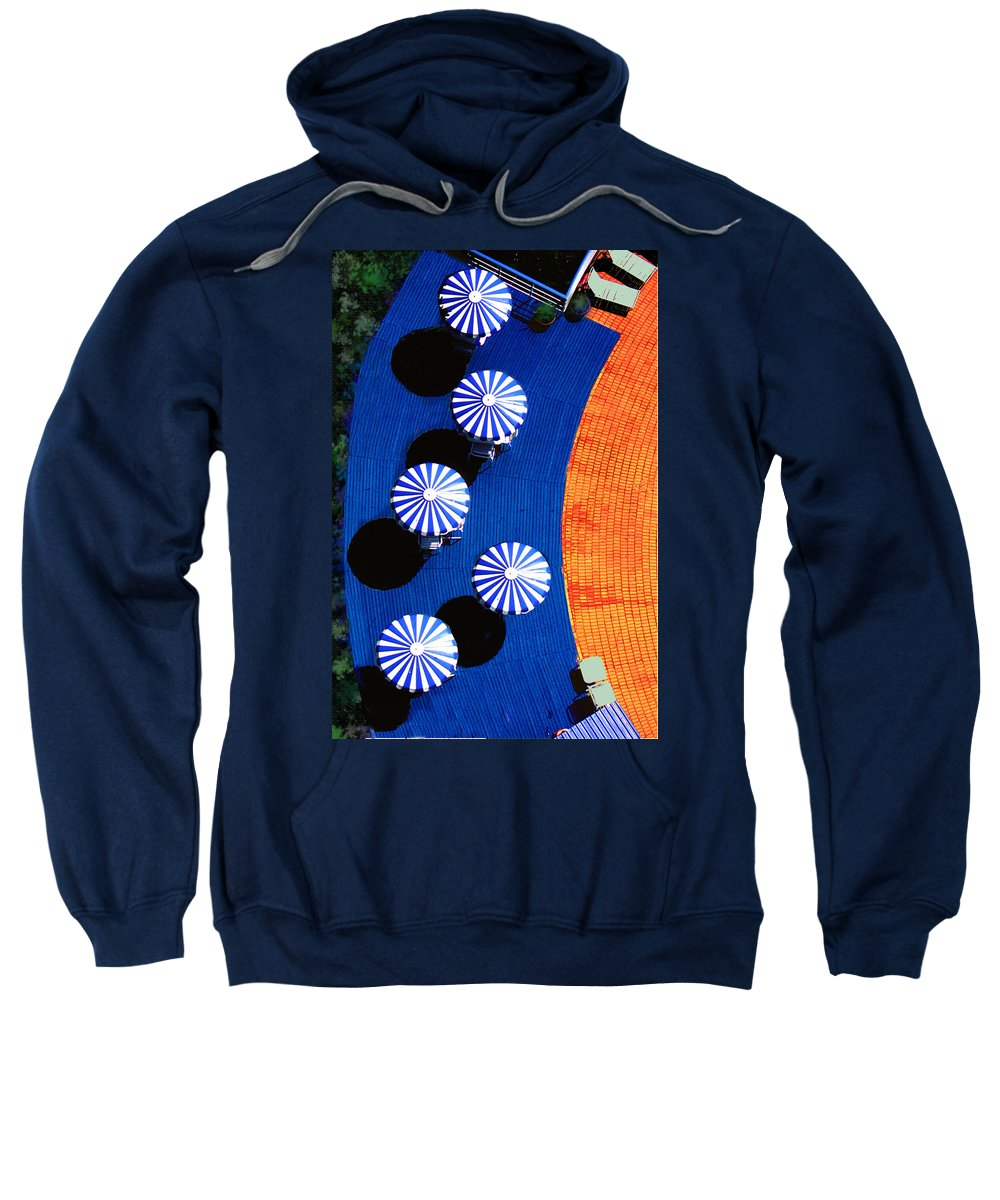 Photography Sweatshirt featuring the photograph Pool Side by Paul Wear
