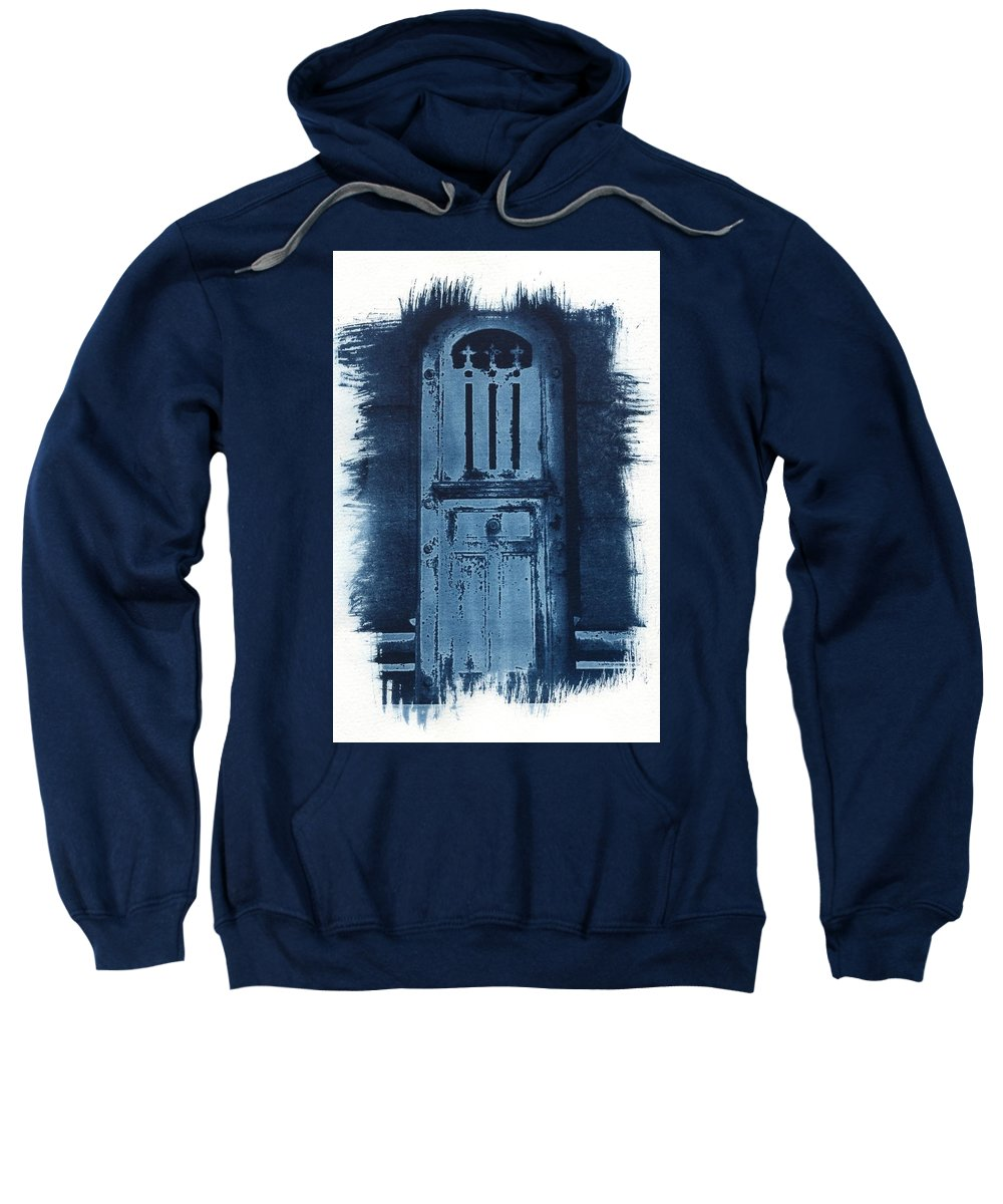 Cyanotype Sweatshirt featuring the photograph Portals by Jane Linders