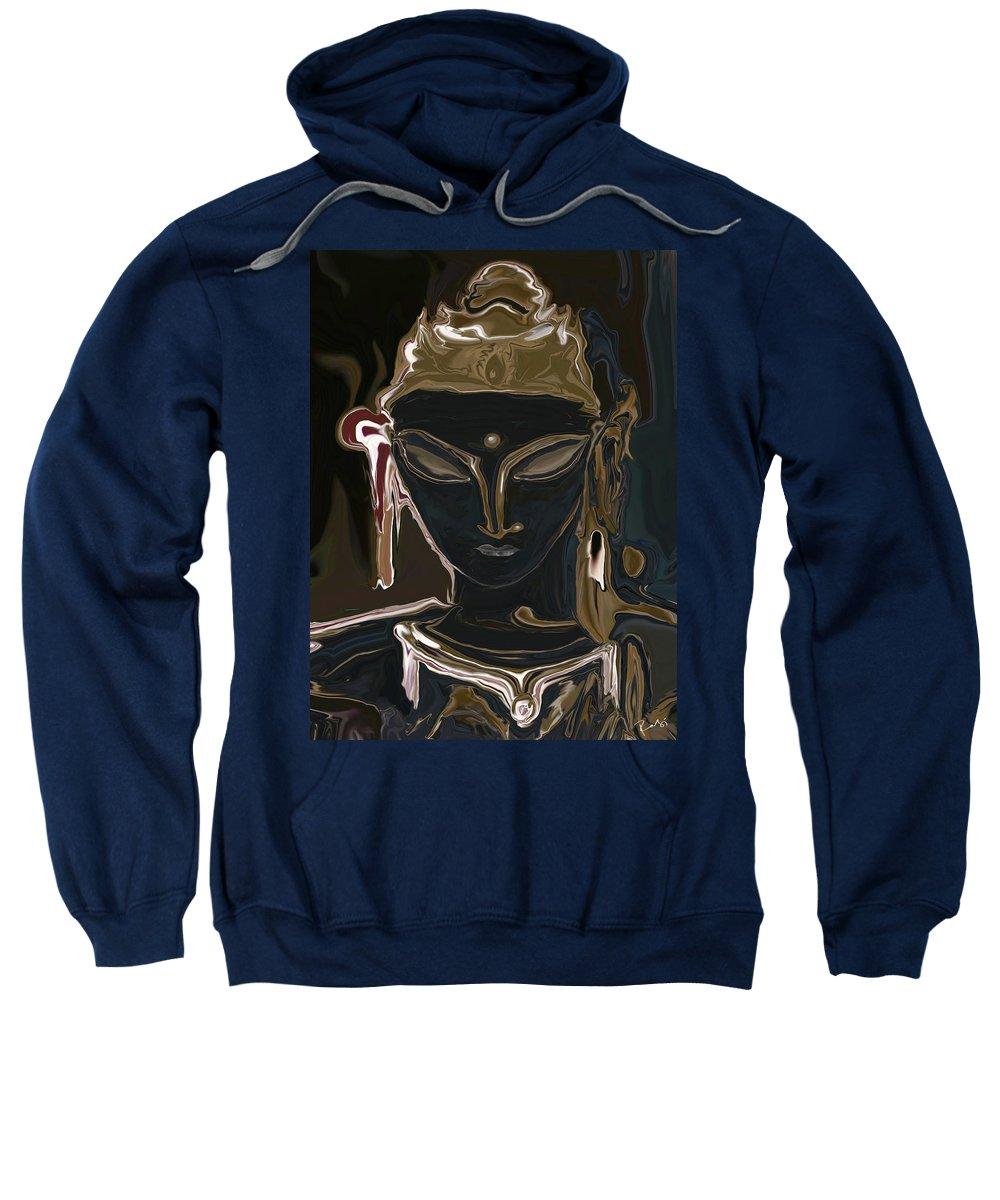 Art Sweatshirt featuring the digital art Portrait Of Vajrasattva by Rabi Khan