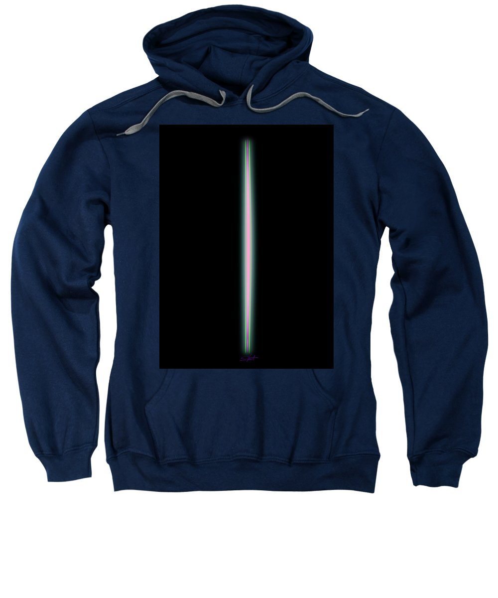 Slit Sweatshirt featuring the painting Possession by Charles Stuart