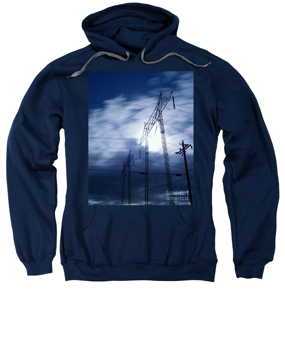 Clouds Sweatshirt featuring the photograph Power Surge by Peter Piatt