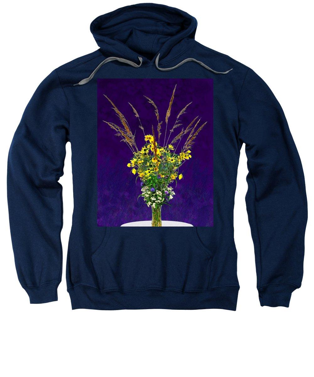 Flowers Sweatshirt featuring the photograph Prairie Bouquet by Steve Karol