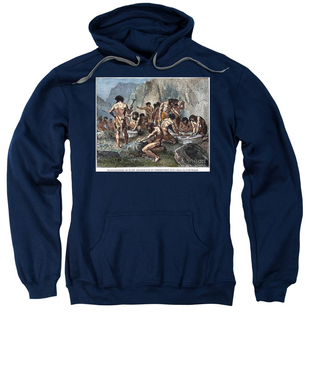 Ancient Sweatshirt featuring the photograph Prehistoric Man: Tools by Granger