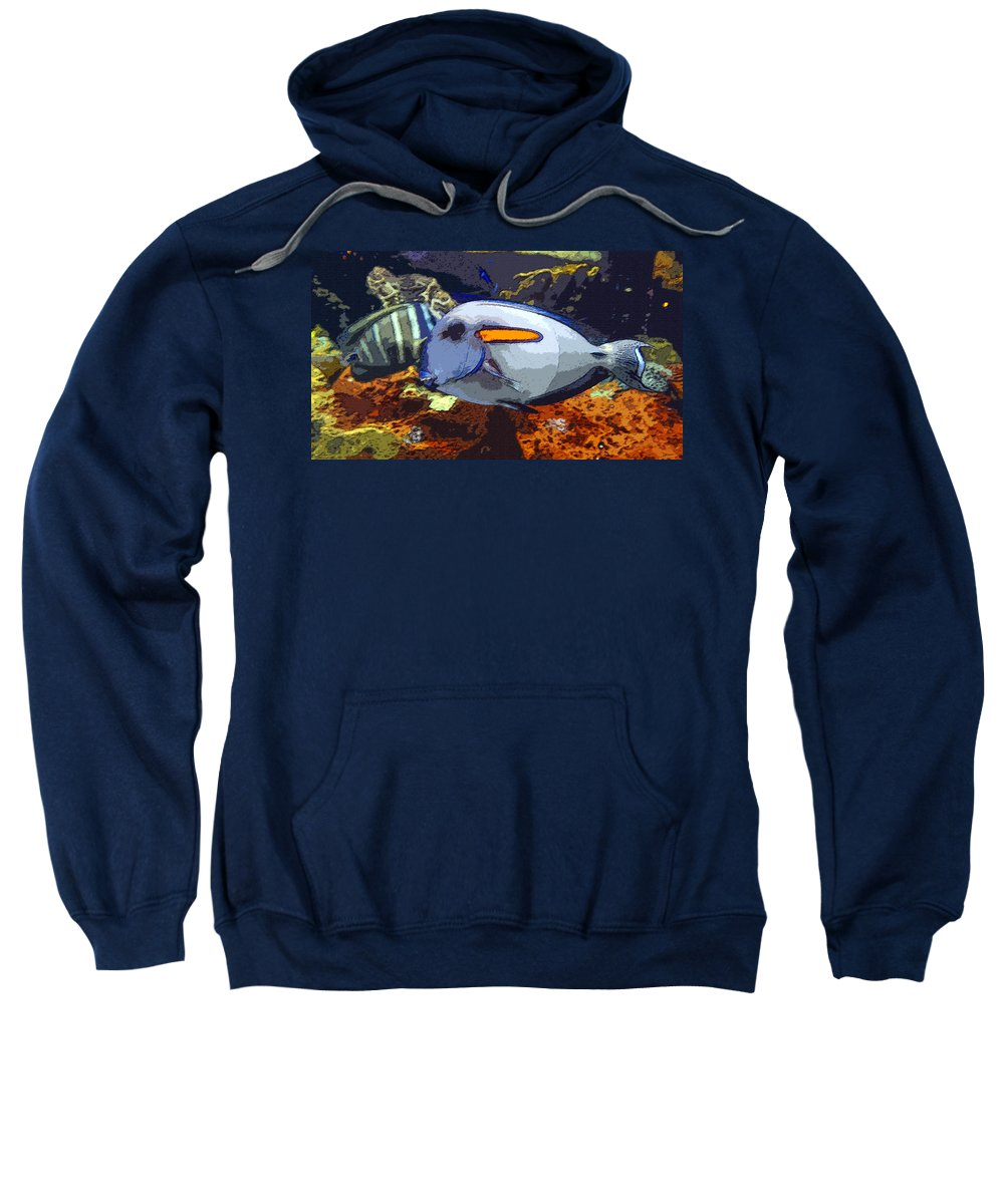 Art Sweatshirt featuring the painting Pretty Lady by David Lee Thompson