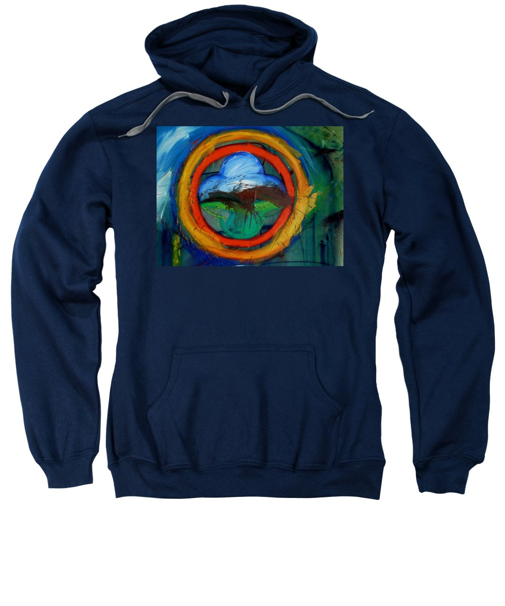 Landscape Sweatshirt featuring the painting Promised Land by Charles Stuart