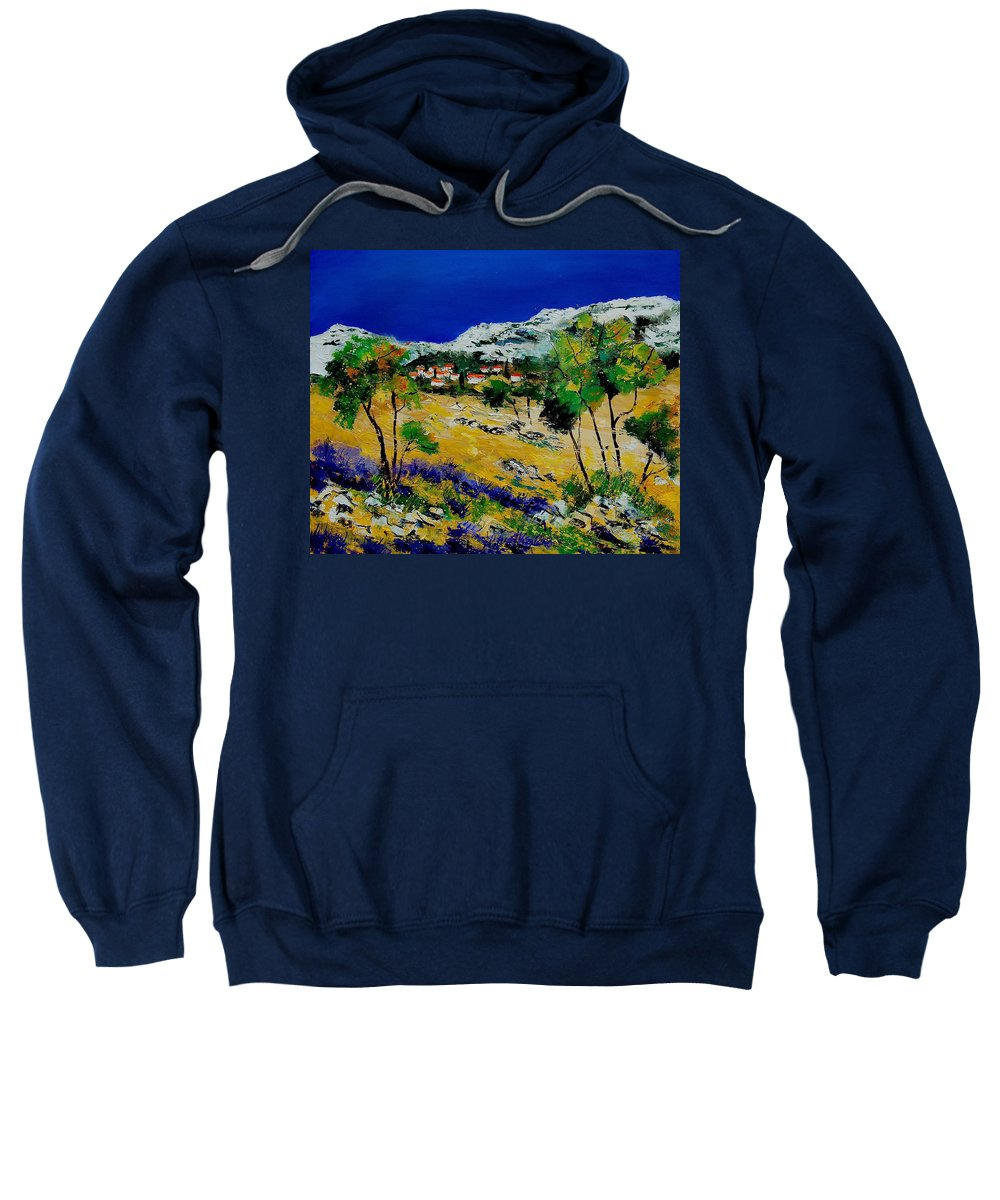 Provence Sweatshirt featuring the painting Provence 569060 by Pol Ledent