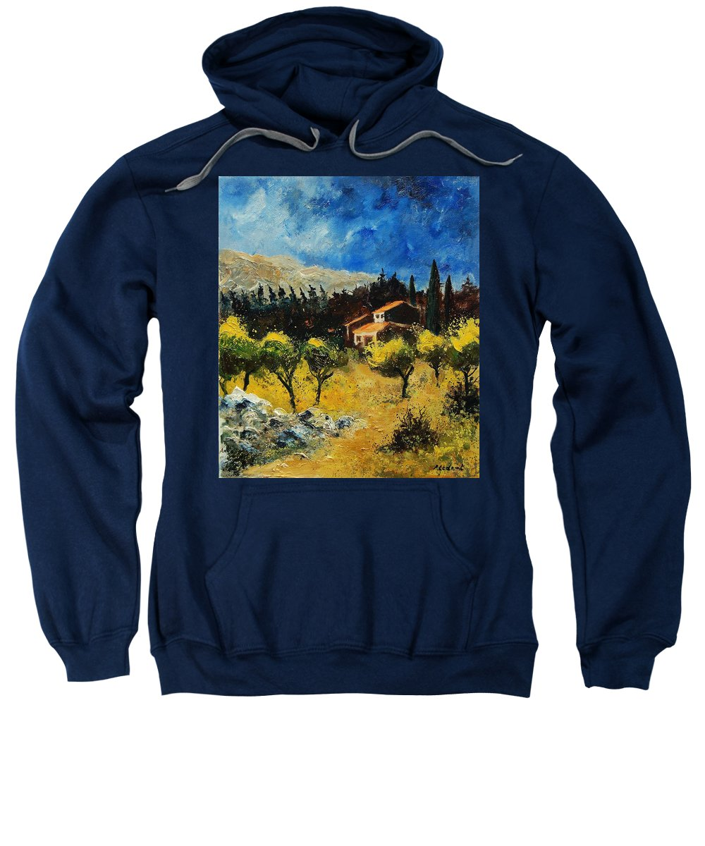Provence Sweatshirt featuring the painting Provence 678965 by Pol Ledent