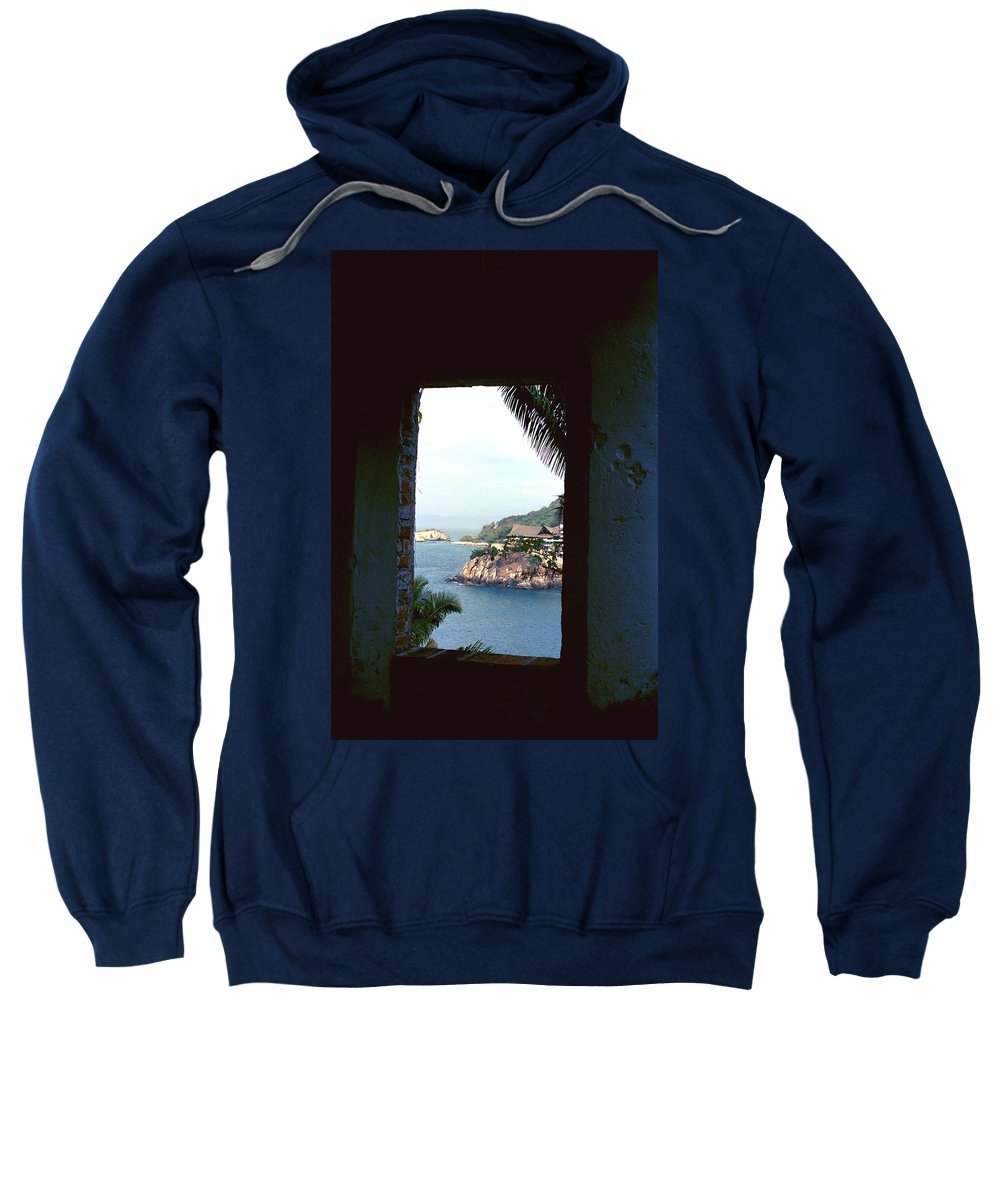 Wall Sweatshirt featuring the photograph Puerto Vallarta Scene by Sheryl R Smith