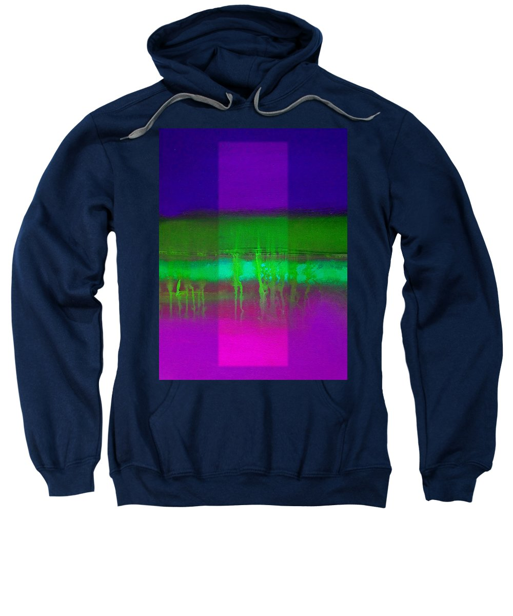 Landscape Sweatshirt featuring the painting Pure Green by Charles Stuart