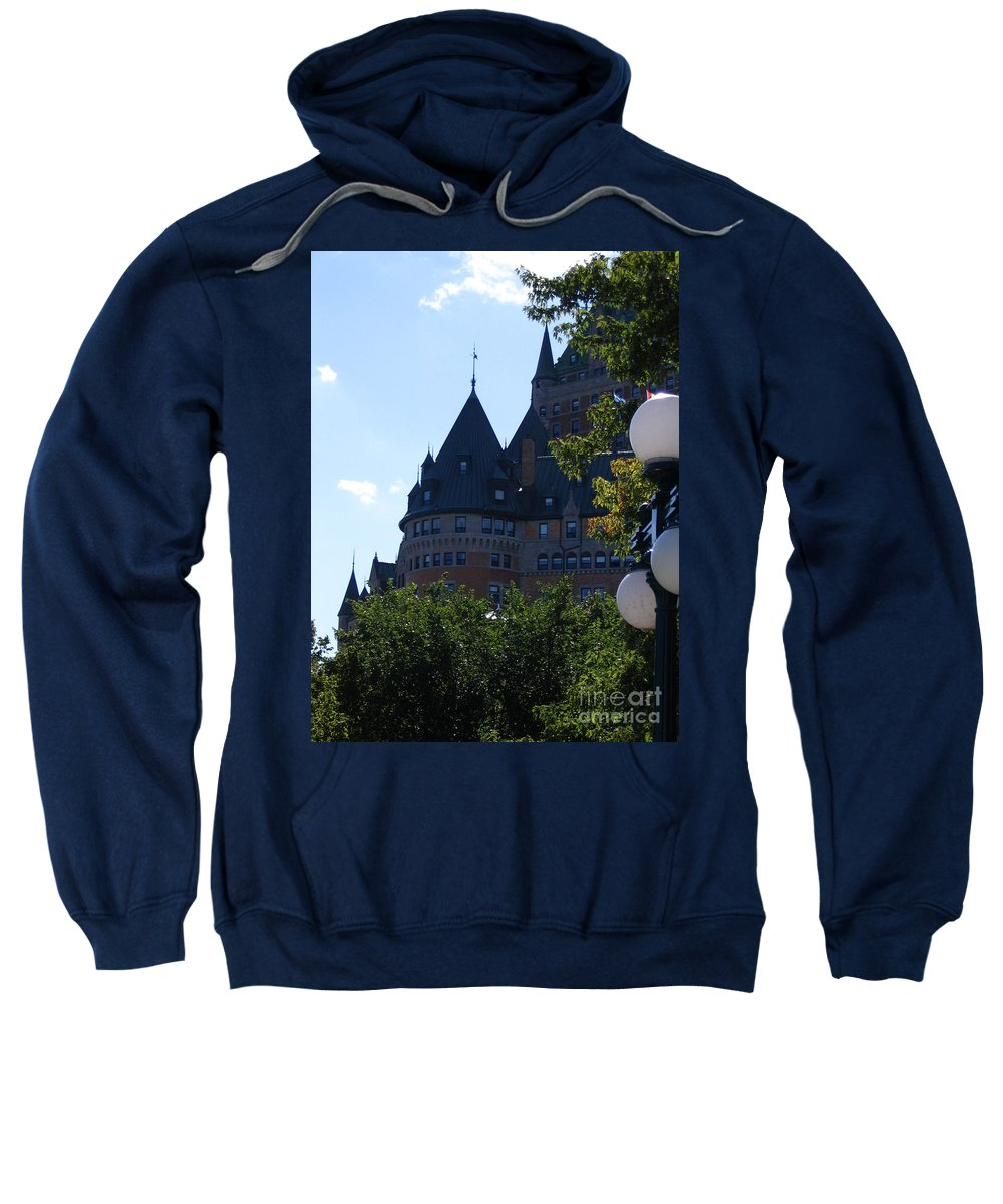 Chateau Frontenac Sweatshirt featuring the photograph Quebec City by Line Gagne