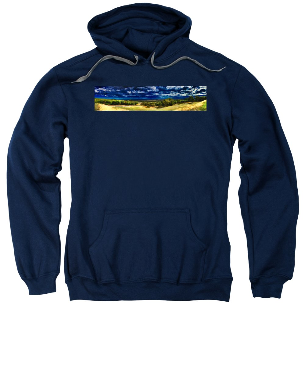 Panorama Sweatshirt featuring the photograph Quiet Before The Storm by Douglas Barnard