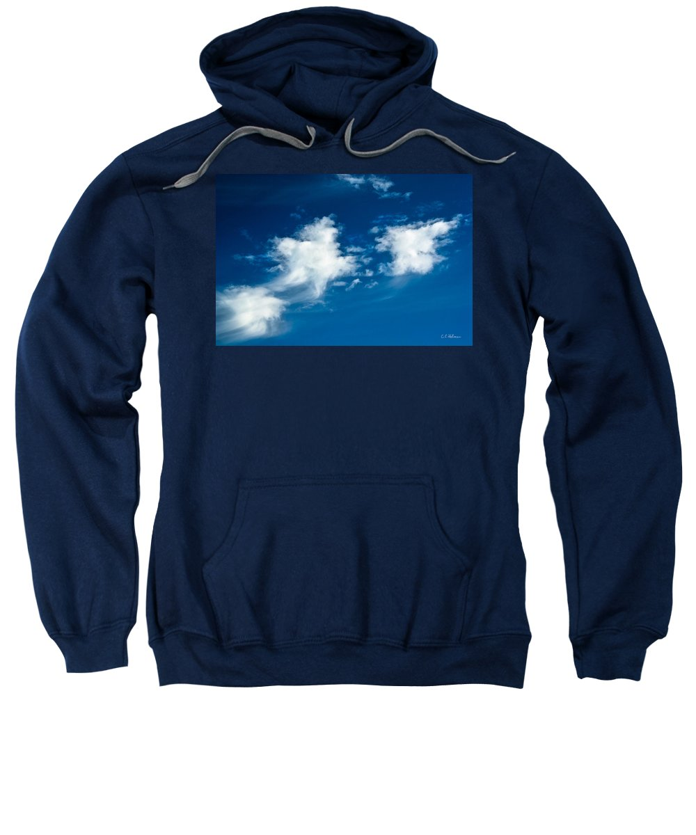 Clouds Sweatshirt featuring the photograph Racing Star by Christopher Holmes