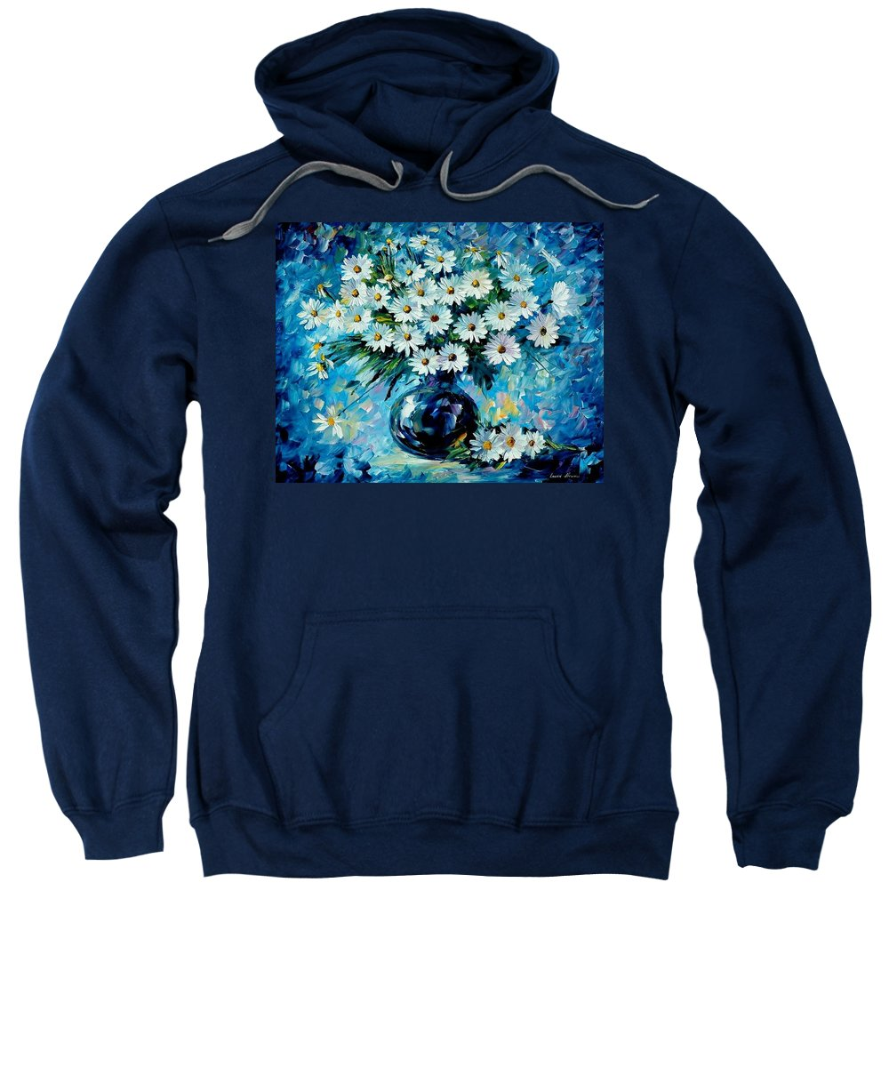 Floral Sweatshirt featuring the painting Radiance by Leonid Afremov