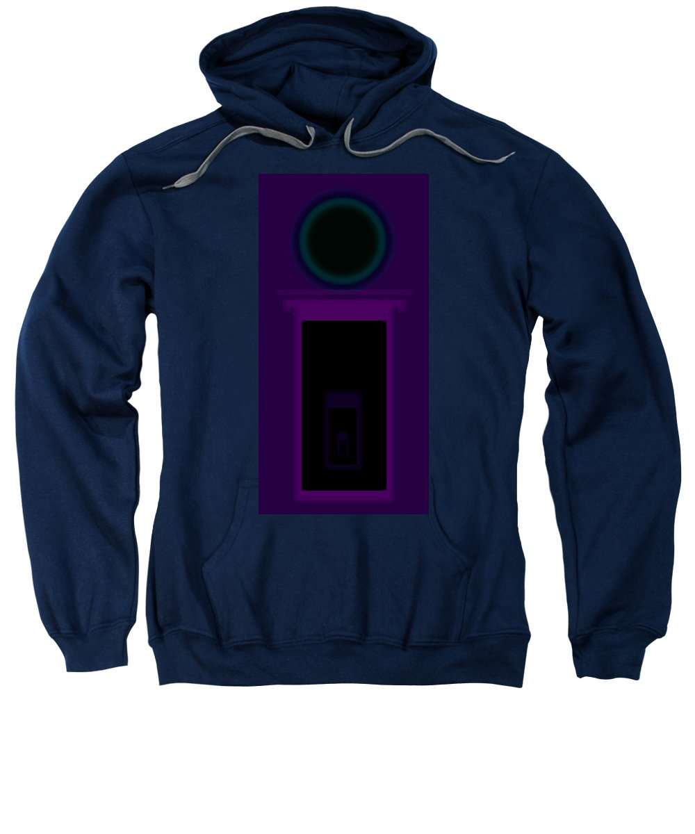 Palladian Sweatshirt featuring the painting Radio Purple Palladio by Charles Stuart