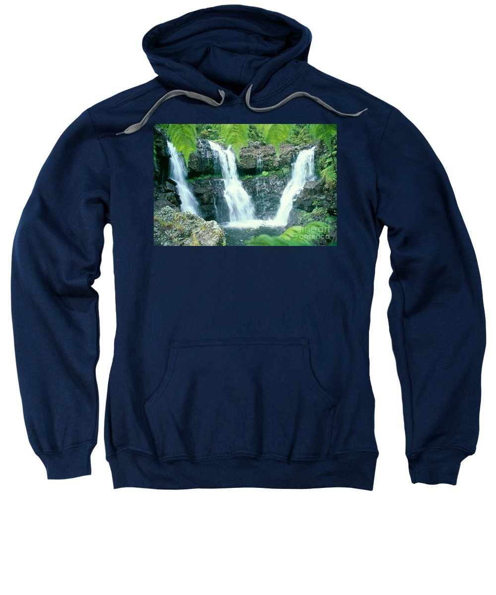 Big Sweatshirt featuring the photograph Rainforest Waterfalls by Peter French - Printscapes