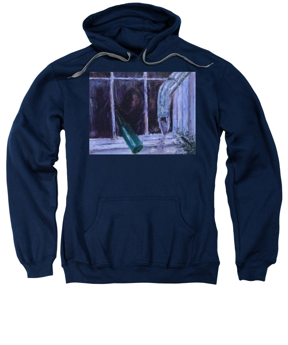 Original Sweatshirt featuring the painting Rainy Day by Stephen King