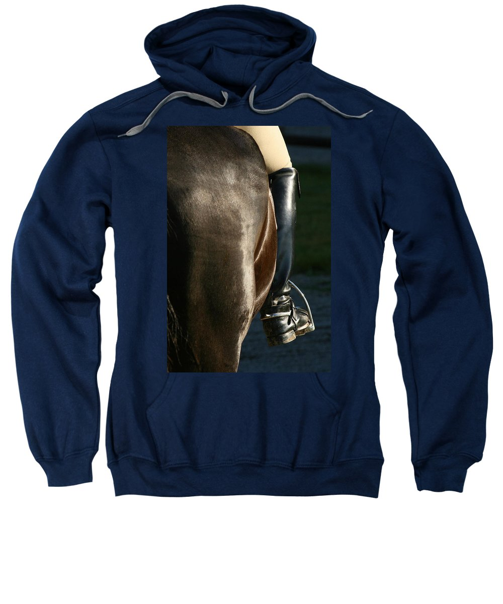 Spurs Sweatshirt featuring the photograph Ready by Angela Rath