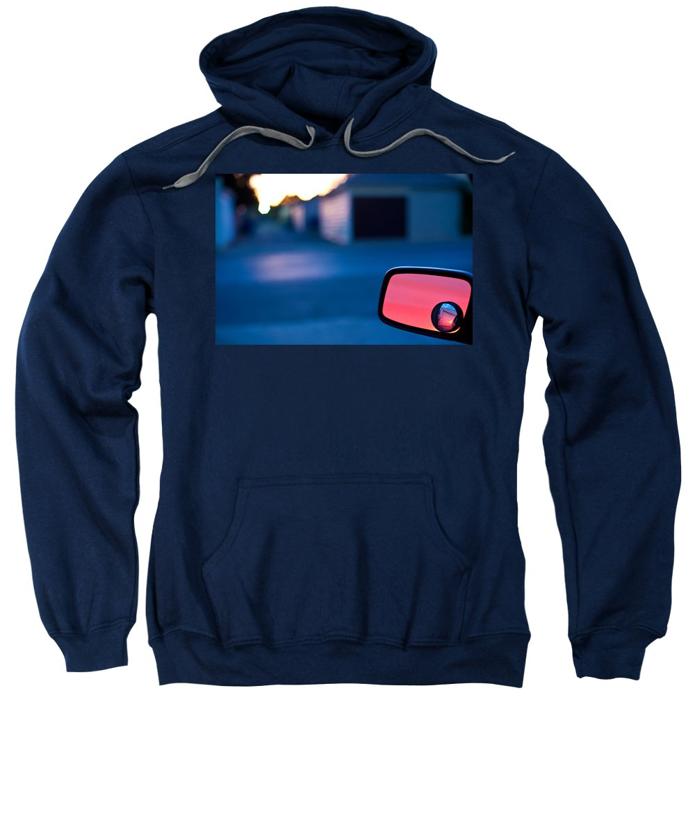 Car Mirror Sweatshirt featuring the photograph Rearview Mirror by Steven Dunn