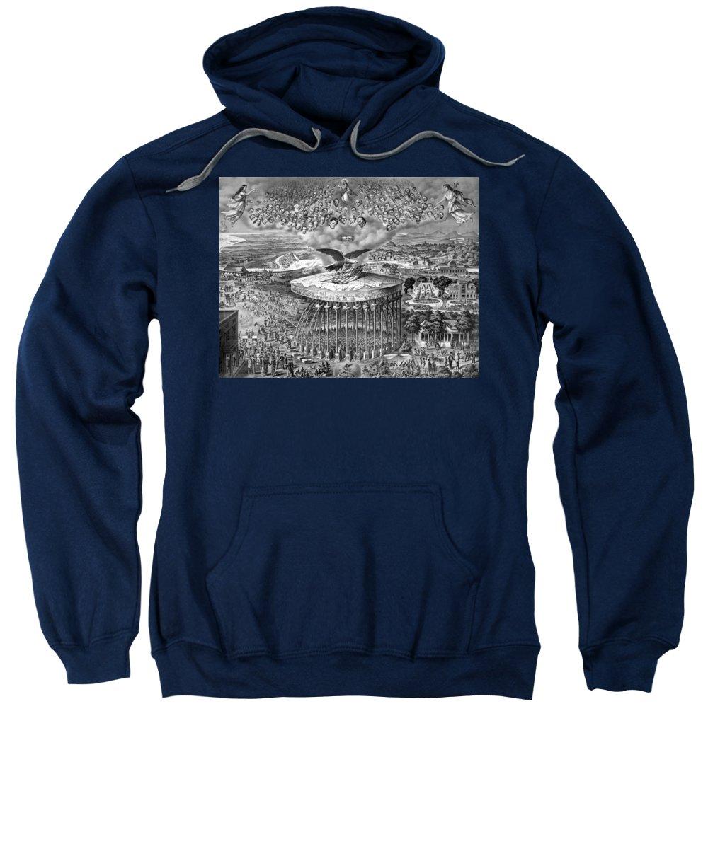 Civil War Sweatshirt featuring the drawing Reconstruction -- Civil War Era by War Is Hell Store