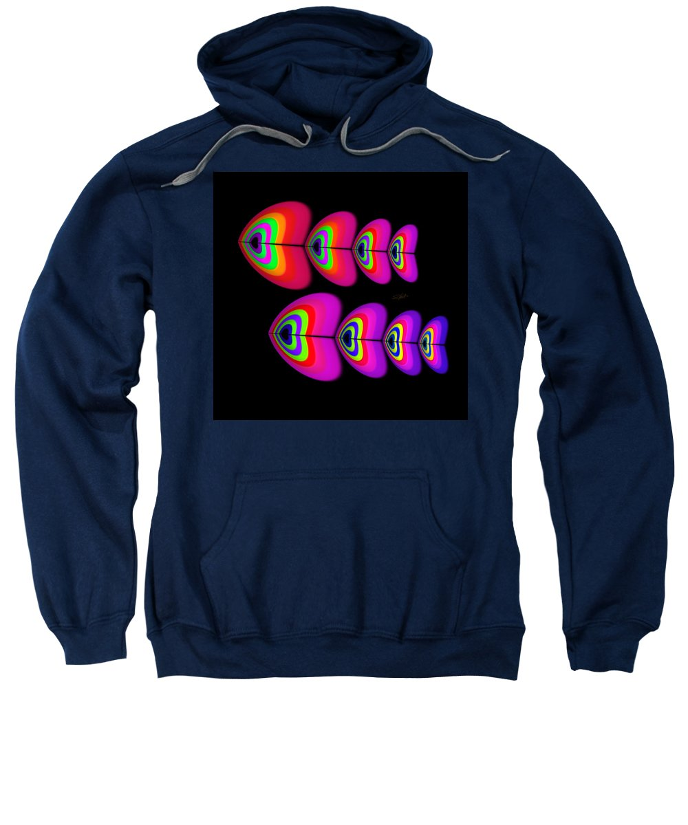 Fish Sweatshirt featuring the digital art Red Fish by Charles Stuart
