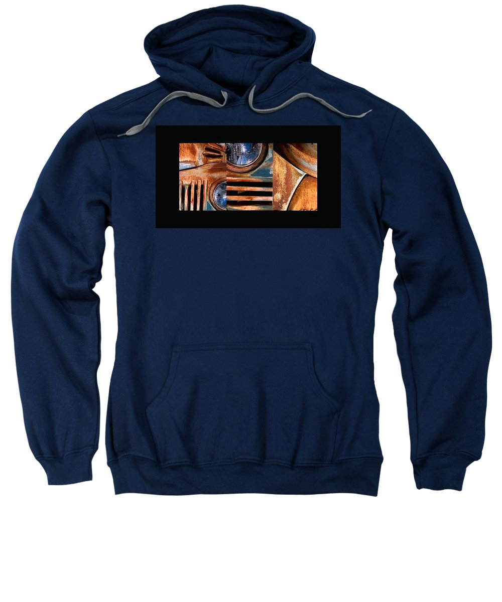 Abstract Photo Of Chevy Truck Sweatshirt featuring the photograph Red Head On by Steve Karol