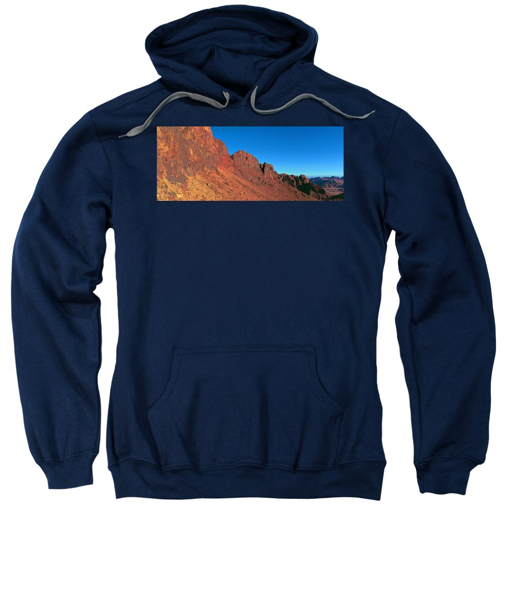 Mountains Sweatshirt featuring the photograph Red Mountains by Sun Travels