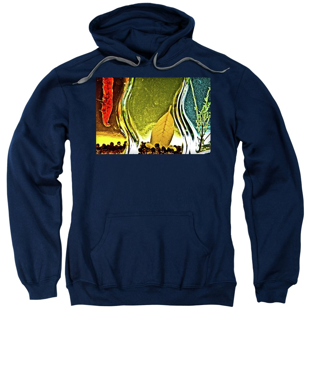 Red Pepper Sweatshirt featuring the photograph Red Pepper Bay Leaf And Thyme by Onyonet Photo Studios