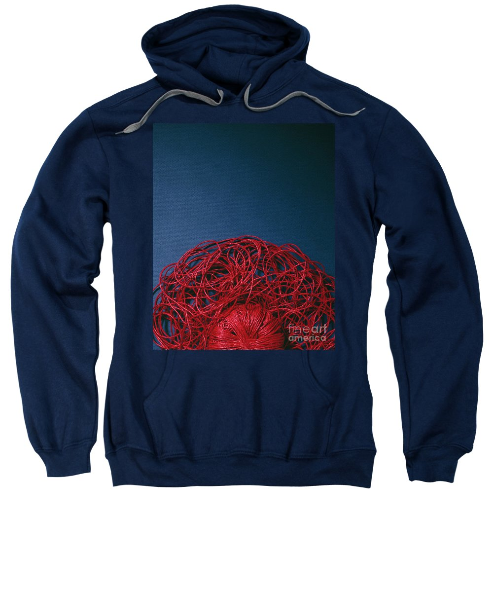 Arty Sweatshirt featuring the photograph Red String by Stefania Levi