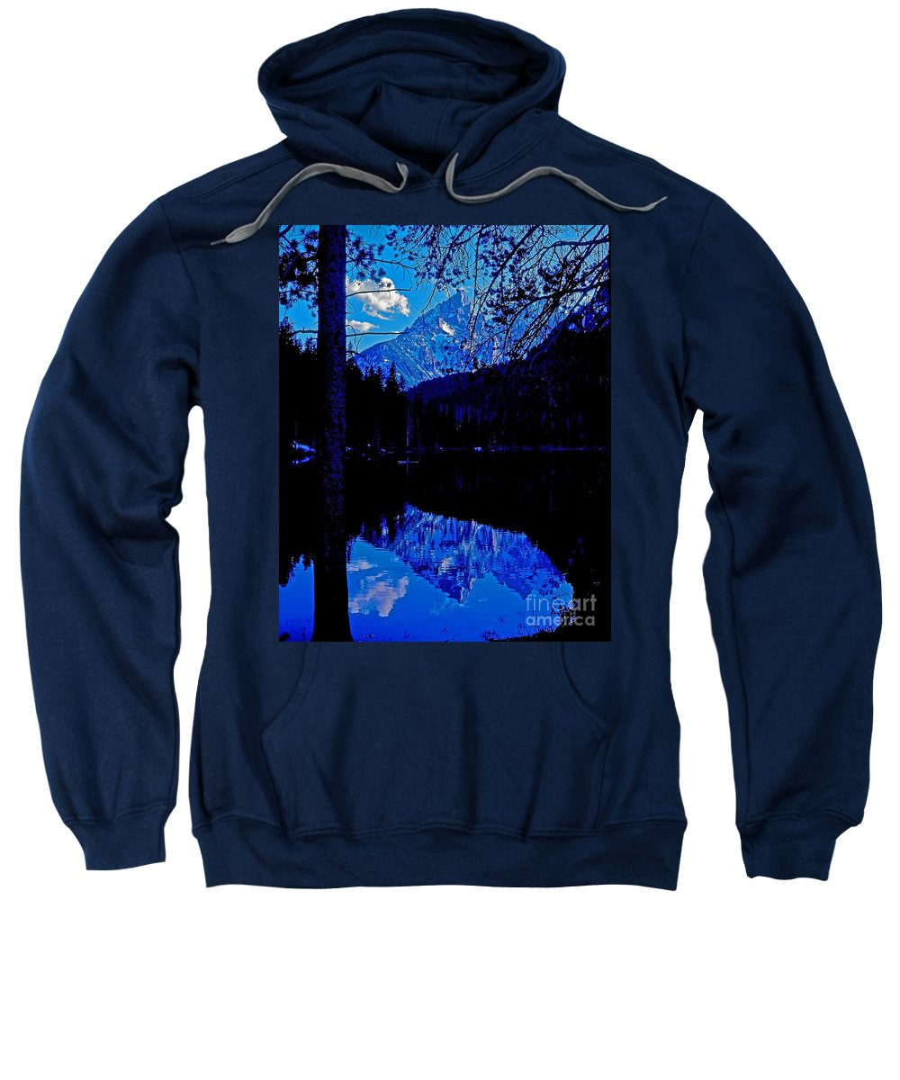 Wyoming Sweatshirt featuring the photograph Reflection On String Lake by Rich Walter