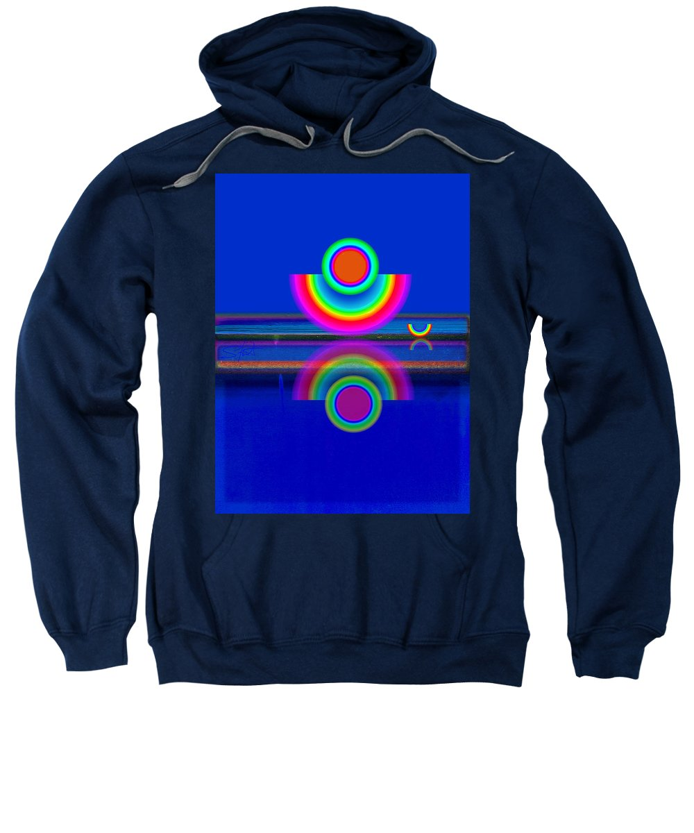 Reflections Sweatshirt featuring the painting Reflections On Blue by Charles Stuart