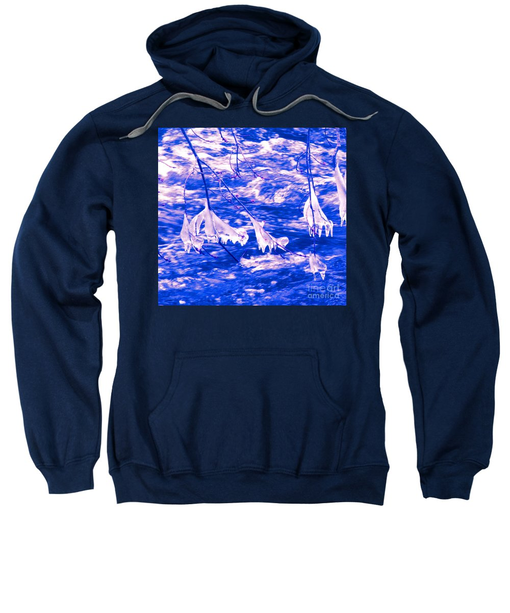 Water Sweatshirt featuring the photograph Ice Bats by Sybil Staples