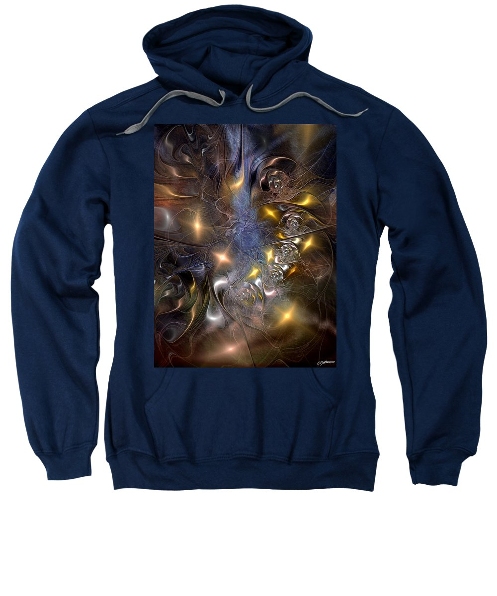 Abstract Sweatshirt featuring the digital art Restricting The Flow Of Insignificance by Casey Kotas