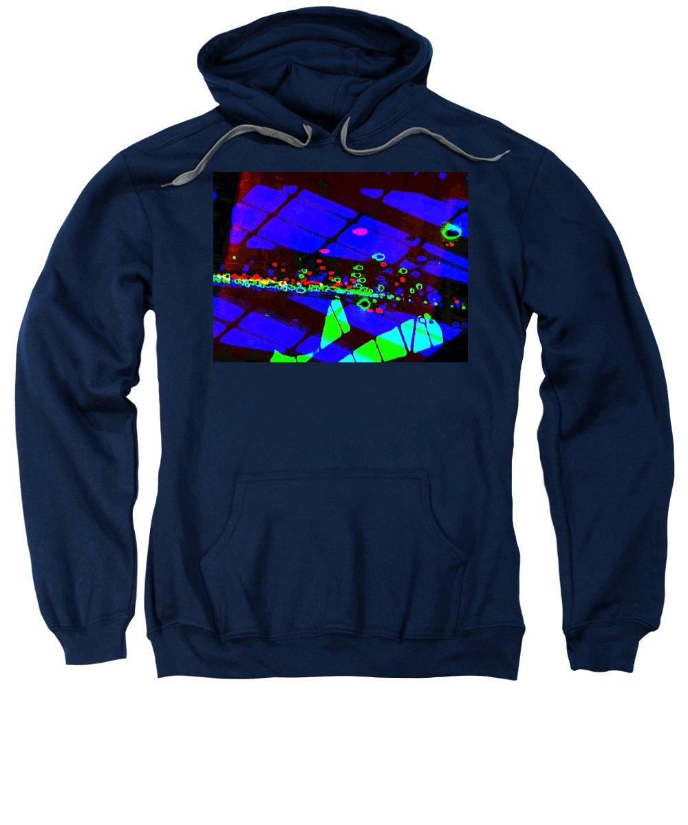 Art Digital Art Sweatshirt featuring the digital art Rgb3b - York by Alex Porter