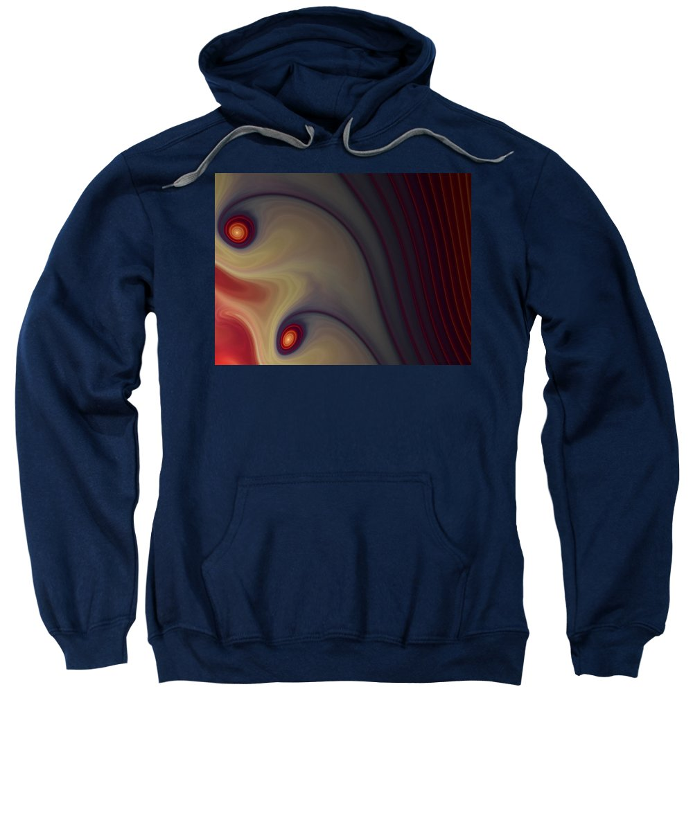 Apophysis Sweatshirt featuring the digital art Rich In Color by Amorina Ashton