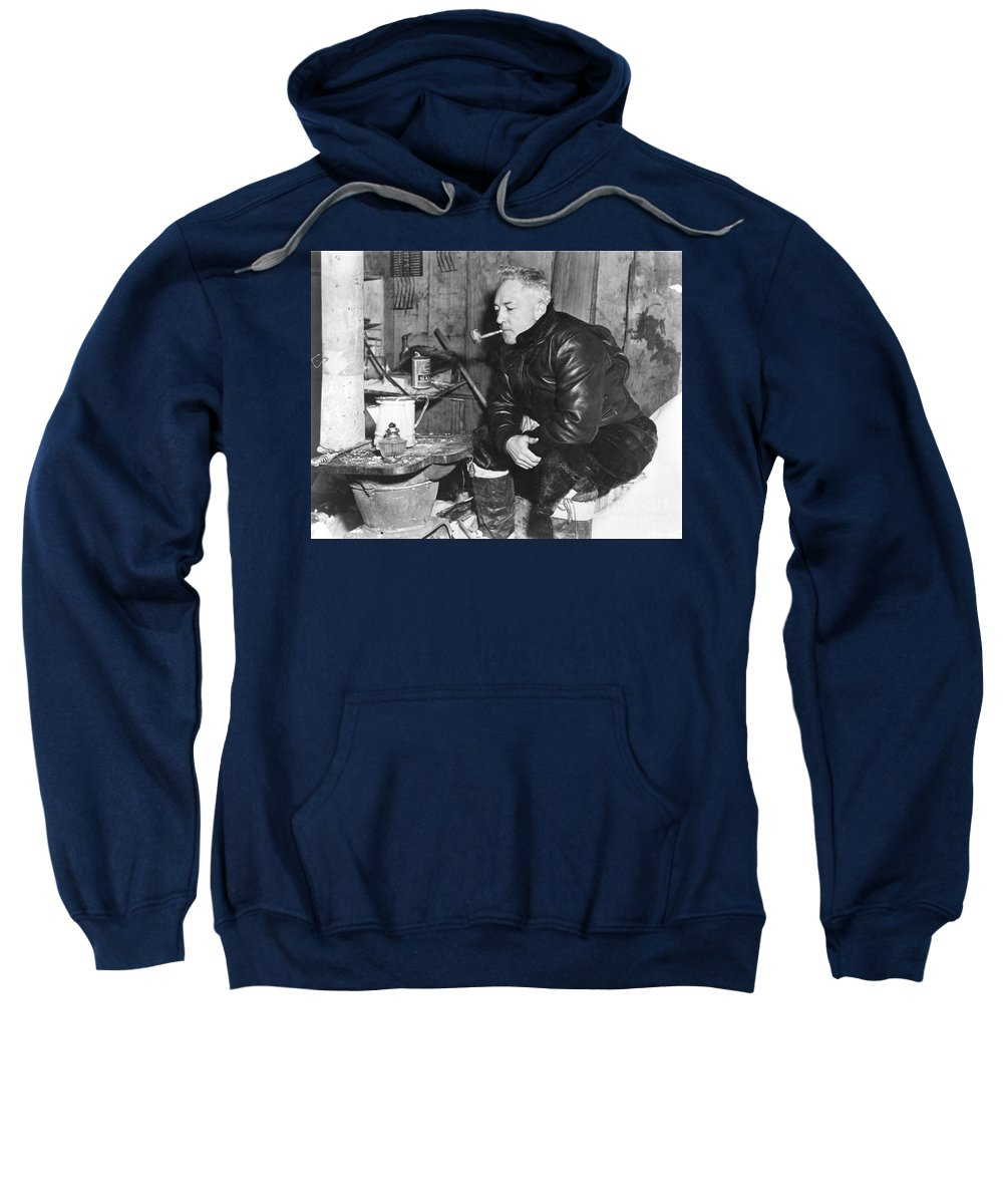 1946 Sweatshirt featuring the painting Richard Evelyn Byrd by Granger