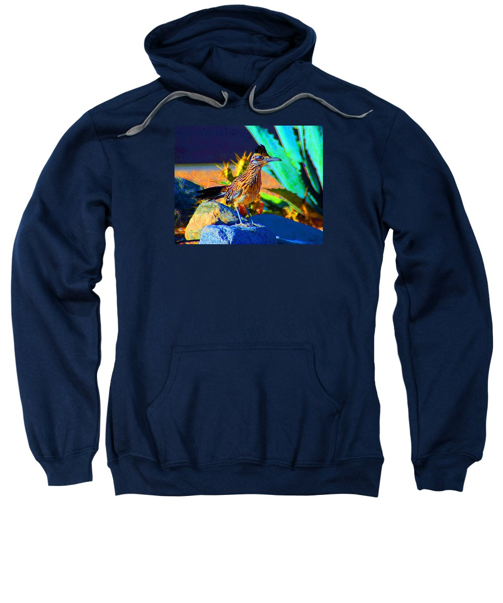 Roadrunner Sweatshirt featuring the photograph Roadrunner by John Malmquist