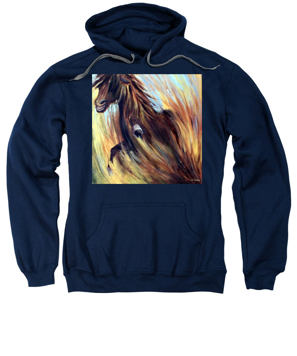 Horse Sweatshirt featuring the painting Rock Star by Joanne Smoley
