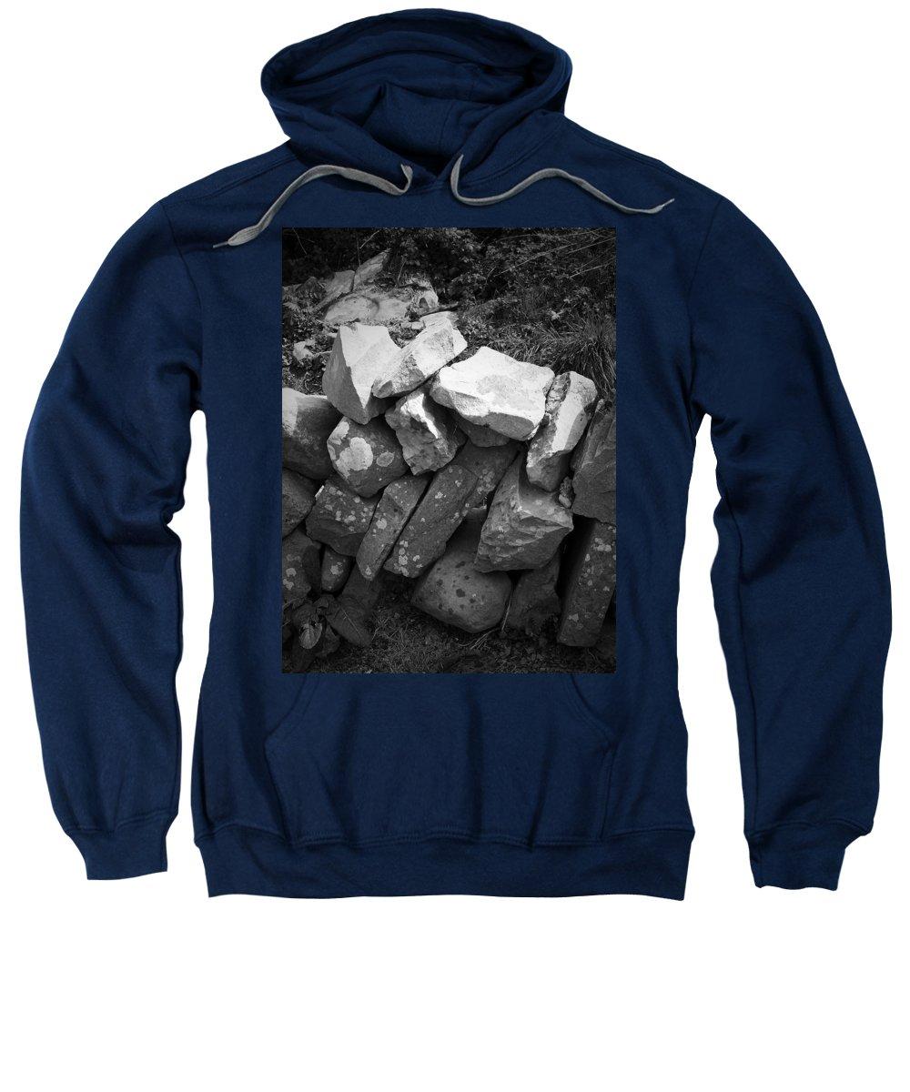 Irish Sweatshirt featuring the photograph Rock Wall Doolin Ireland by Teresa Mucha