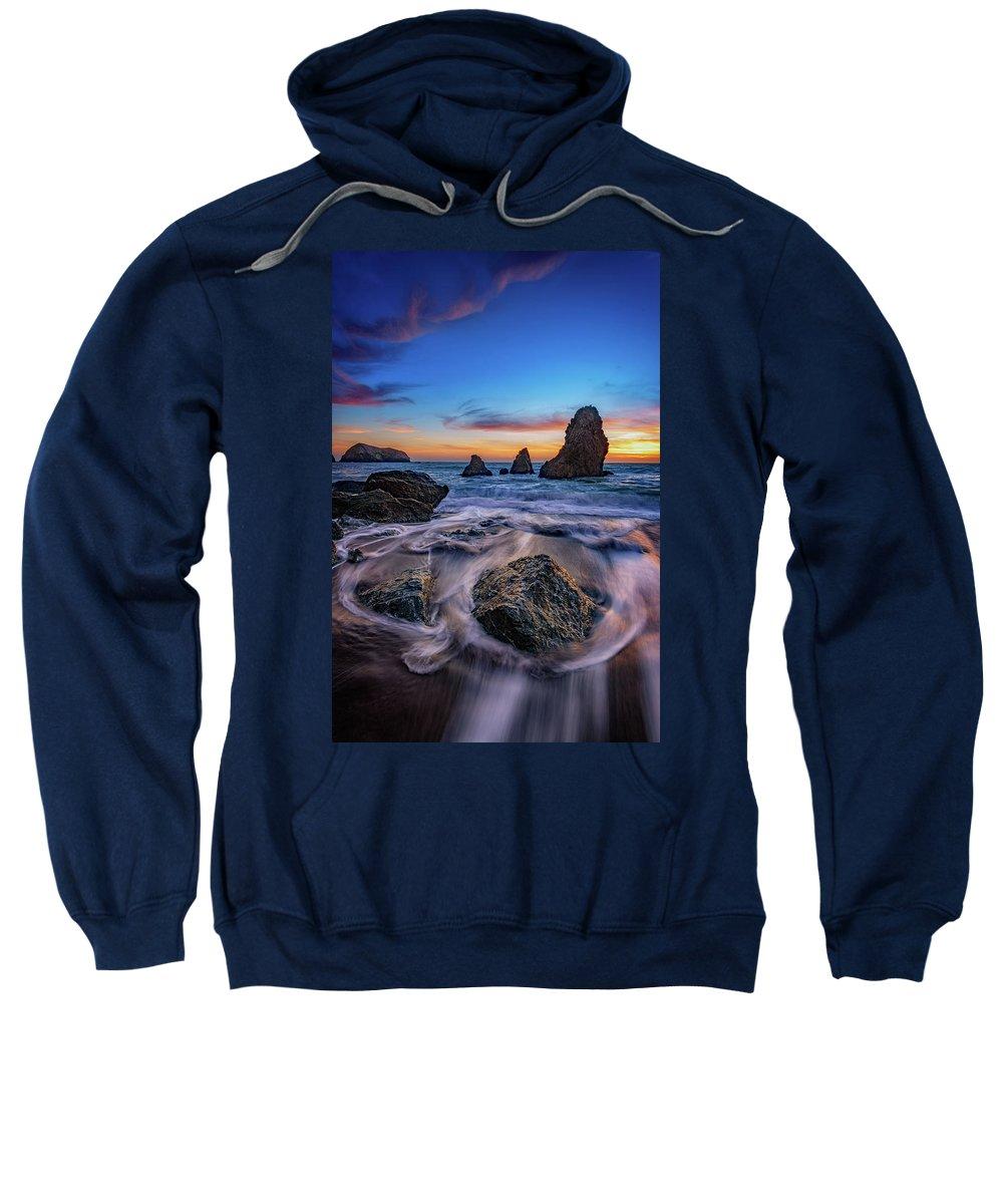 Marin Headlands Sweatshirt featuring the photograph Rodeo Beach Sunset by Rick Berk