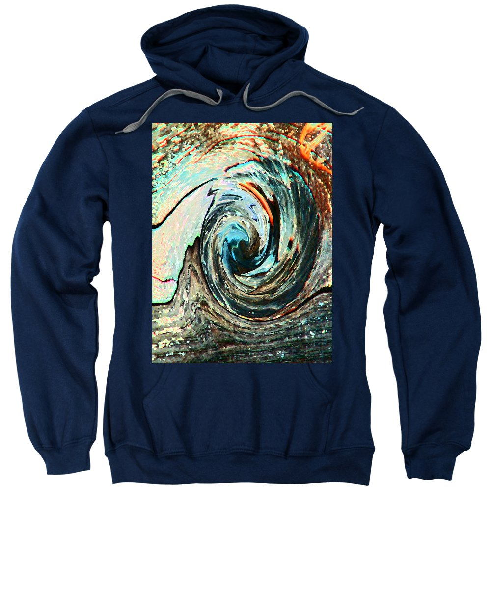 Abstract Sweatshirt featuring the digital art Rolling Downhill by Lenore Senior