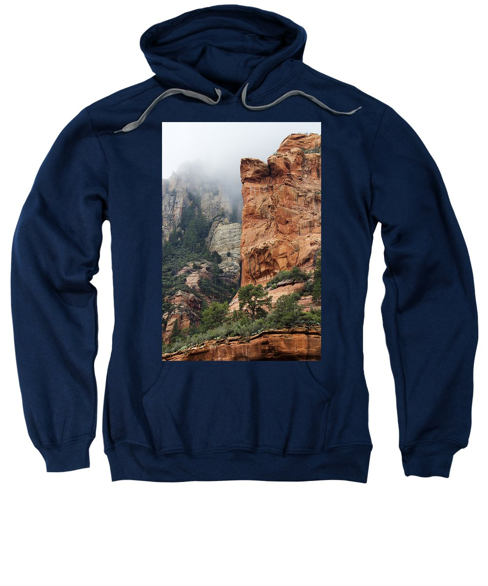 Sedona Sweatshirt featuring the photograph Rollings Mists by Phyllis Denton