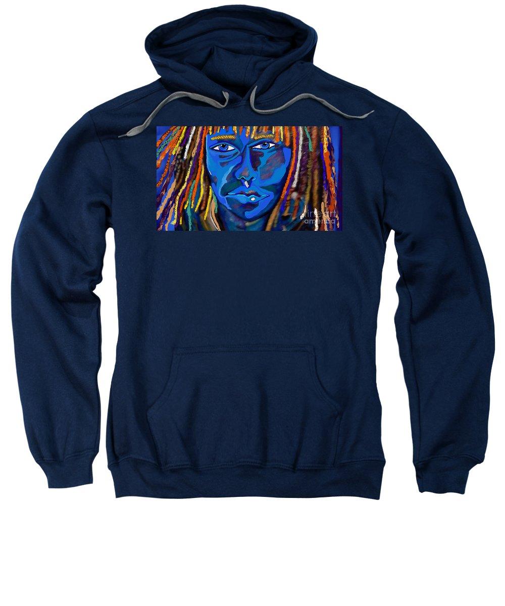 Sweatshirt featuring the mixed media Rosario by Jackie Pecoroni