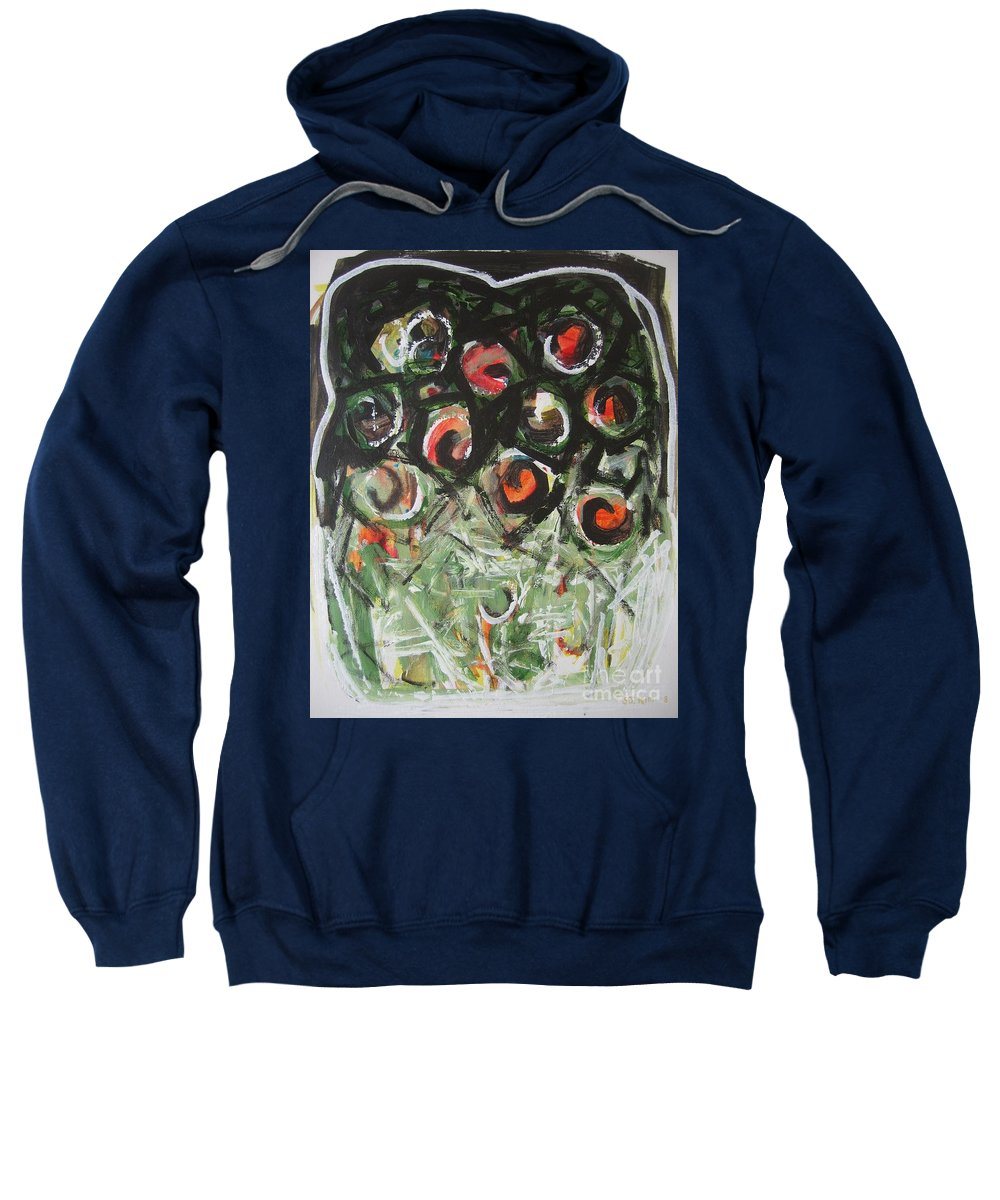 Abstract Painting Sweatshirt featuring the painting Roses by Seon-Jeong Kim