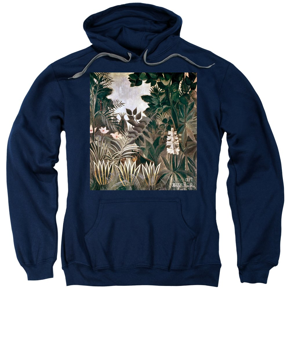 1909 Sweatshirt featuring the photograph Rousseau: Jungle, 1909 by Granger